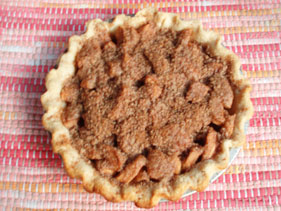 Big Mama Thornton Apple Pie with Streusel Topping.