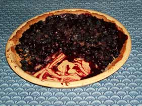 The pie after my husband and I each had a slice. The pie pan is a piece of yellow-ware I've had for years